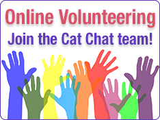 Current Virtual Volunteer Vacancies at Cat Chat